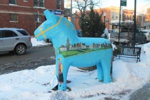 Andersonville Dala Horse replica. (photo/Demetria Mosley)